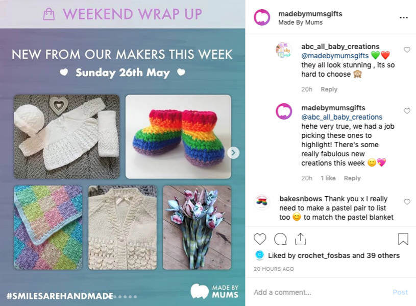 #WeekendWrapUp weekly wrap up post on Instagram