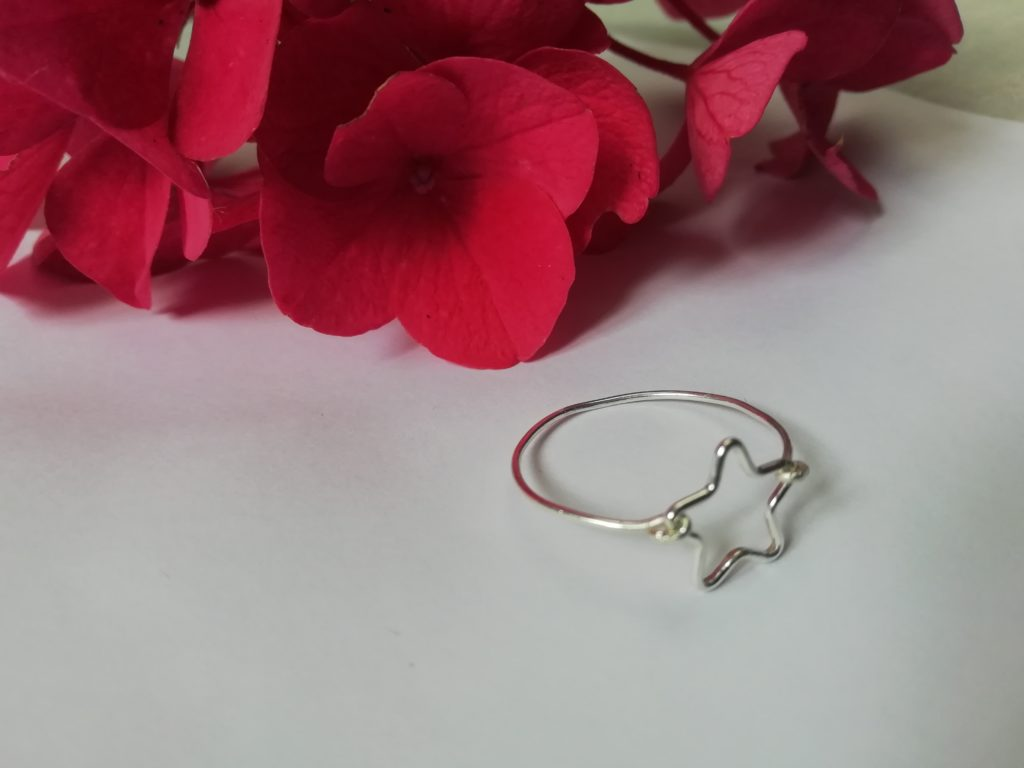 Star ring, tiny silver ring, dainty silver ring - product image 4