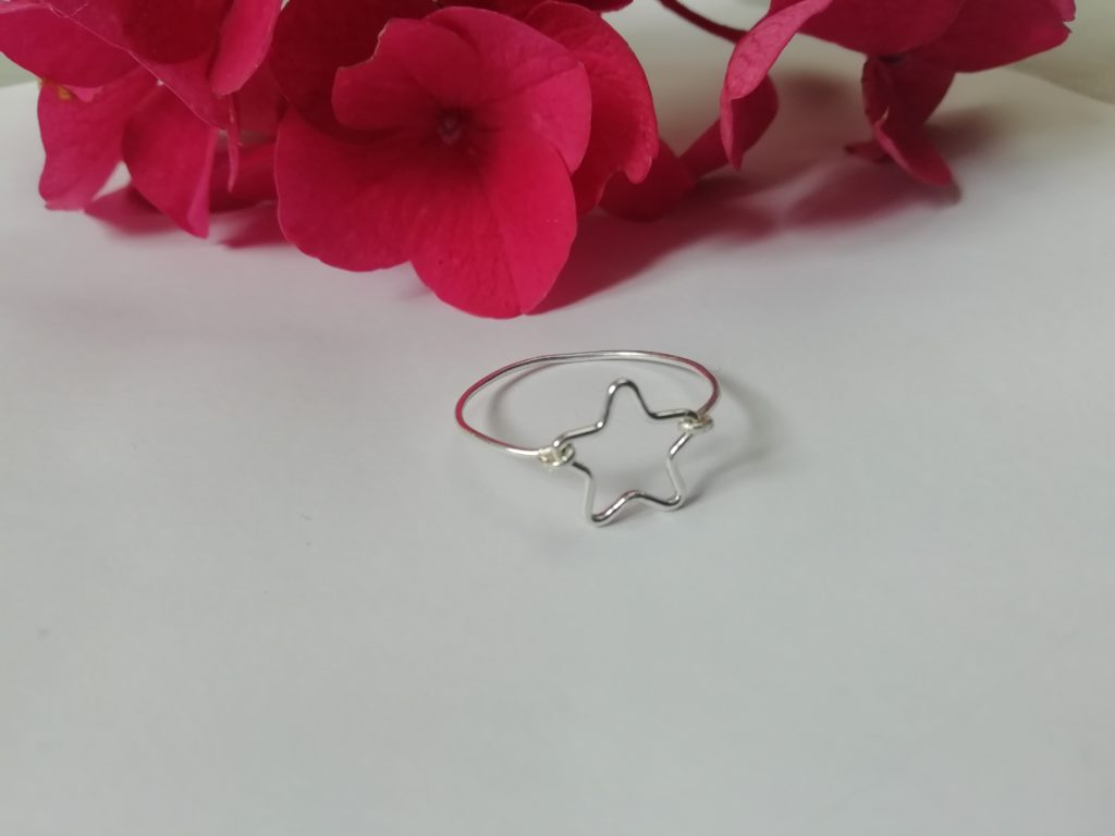 Star ring, tiny silver ring, dainty silver ring - product image 3