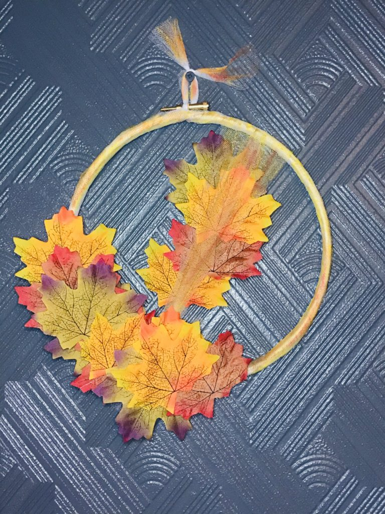 Pretty Autumnal Wreath - main product image