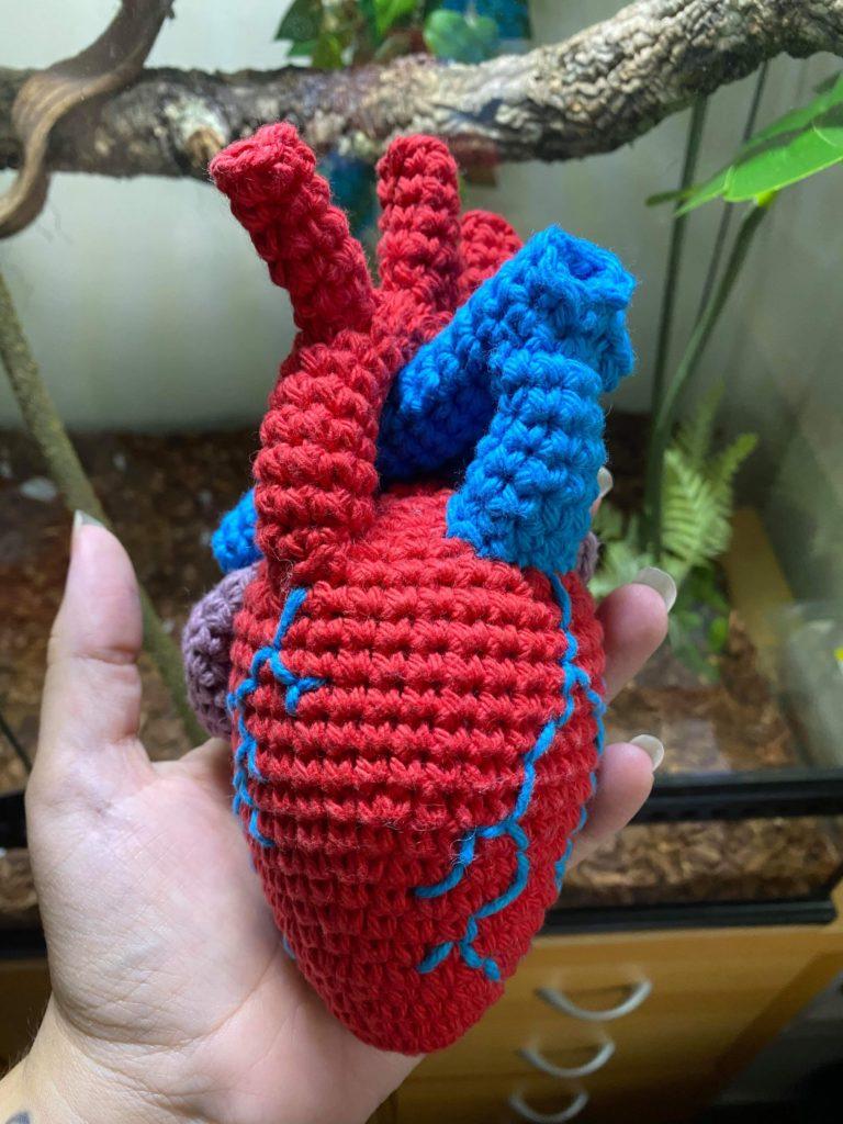 Anatomical Heart crochet pattern - product image 5