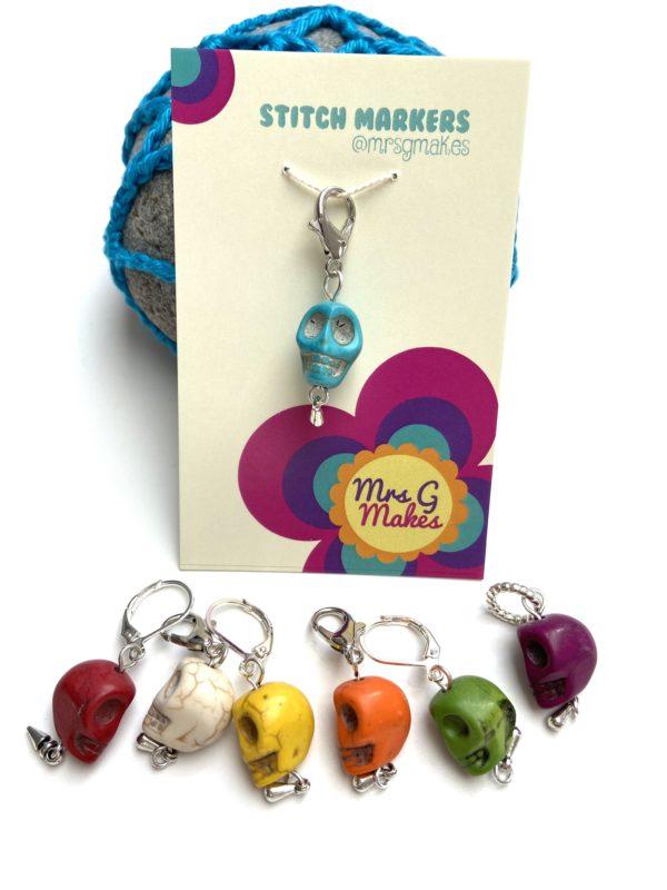 Skull Snag Free Stitch Marker - product image 2
