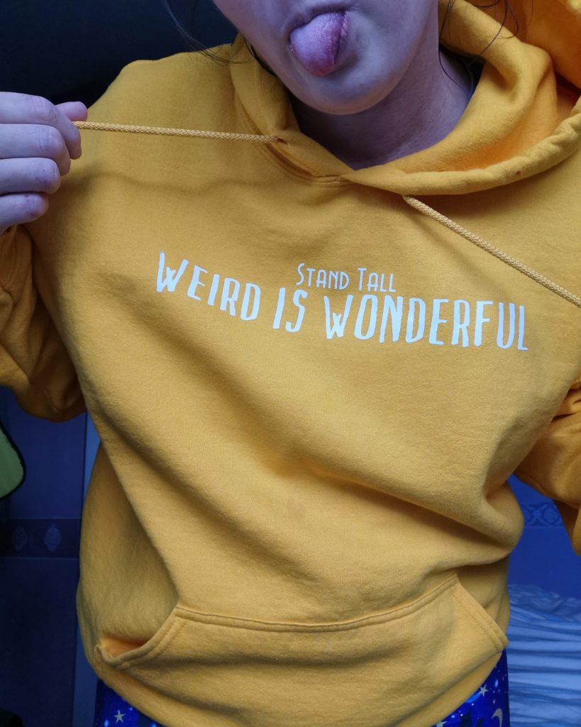 Slogan Hooded Sweatshirt, Stand Tall, Custom Quote - main product image
