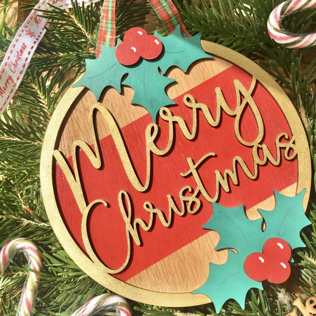 Merry Christmas Wreath Plaque - main product image