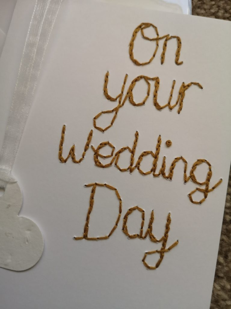 Plantable wildflower seed paper heart on your wedding day card - product image 2