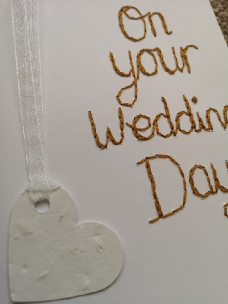 Plantable wildflower seed paper heart on your wedding day card - product image 3
