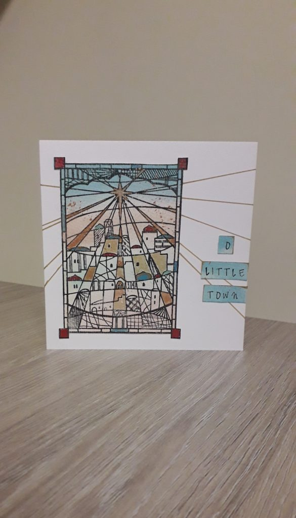 'O Little Town' Christmas card. - main product image