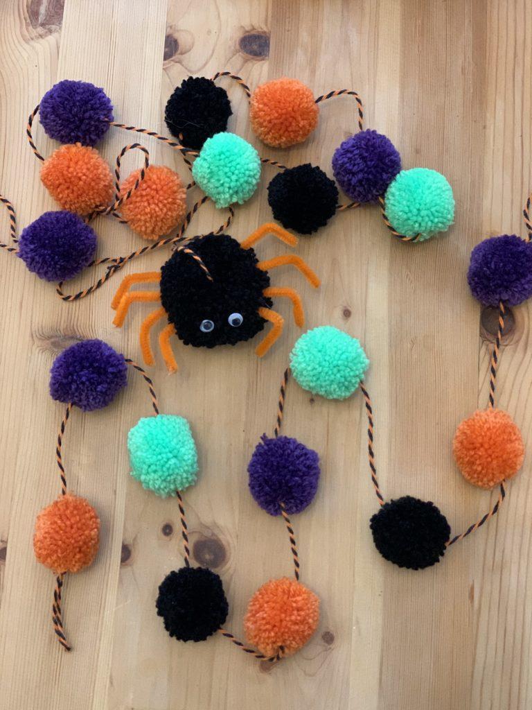 Small Pom Pom Halloween Garland - product image 2