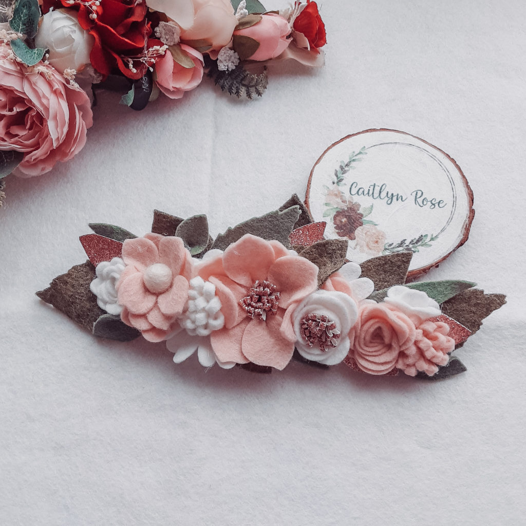 Pretty in pink deluxe wildflower crown headband - main product image