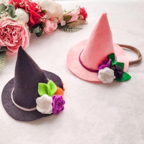 Felt mini witch hat - main product image