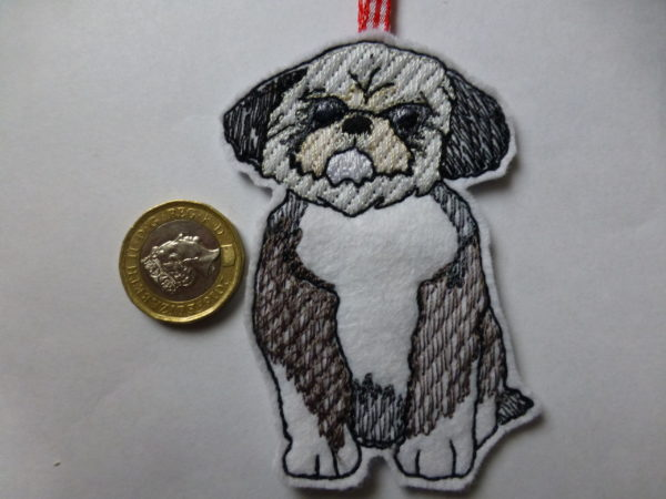 Black shih tzu hanging decoration – Christmas tree decoration - main product image