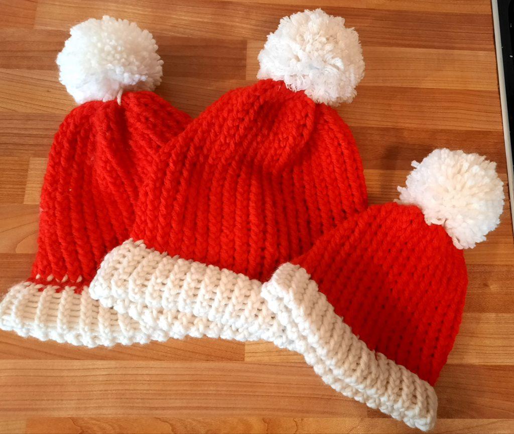 Hand knitted Santa hats - main product image