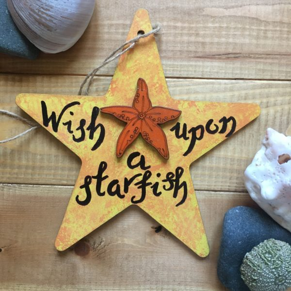 Wish upon a starfish sign - main product image