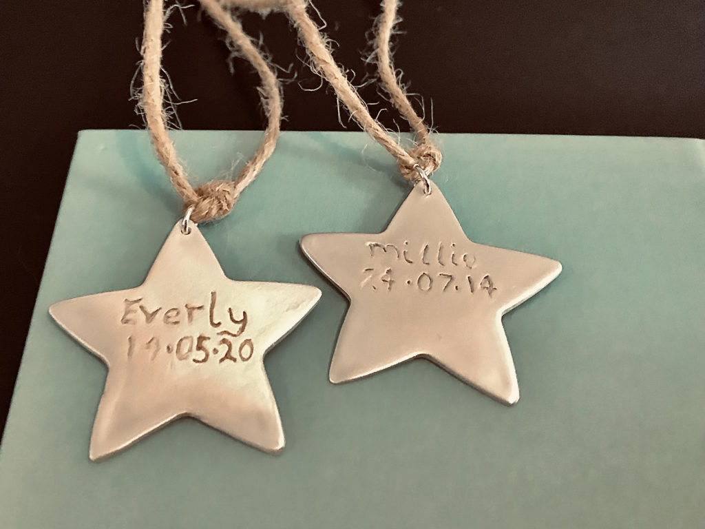 Star christmas tree decorations personalised - product image 2