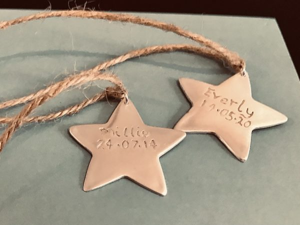 Star christmas tree decorations personalised - main product image